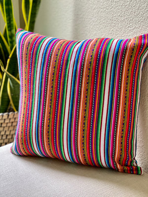 Peruvian Andean Manta Aguayo Pillow Cover | Fair Trade Home Decor | Picchu + Bold