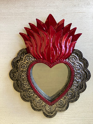 Milagros Heart Mirror