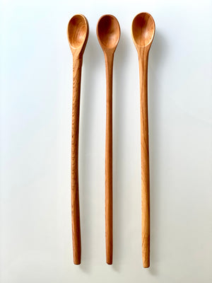Hand-carved Wooden Stir + Taste Spoon 11""