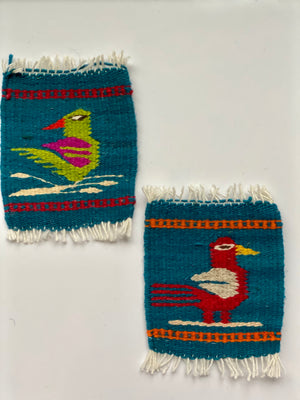 Zapotec Coasters Set of 2, Birds
