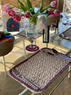Palm Leaf Placemats | Fair Trade | Picchu + Bold