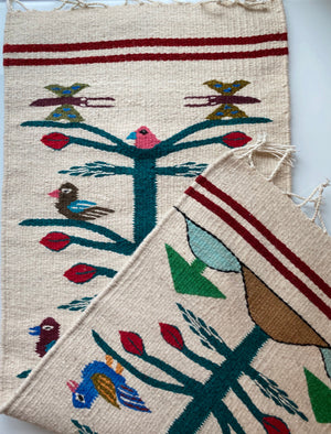 Oaxaca Zapotec Tapestry, Birds
