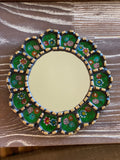 Green Antique Gold Mirror