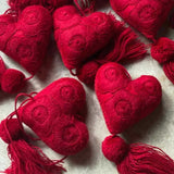 Red Heart Tassels