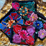 Oaxaca Mexican Velvet Gift Card Holder Floral Coin Pouch Purse Picchu + Bold