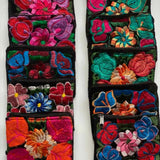 Oaxaca Gancha Coin Purses Embroidered Blue Red Floral Pouch Portland Picchu + Bold