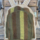 Andean Tweed Green Striped Mini Small Little Backpack Portland Picchu + Bold