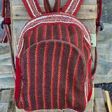 Andean Tweed Red White Striped Mini Small Little Backpack Portland Picchu + Bold