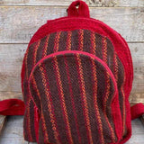 Andean Tweed Red Striped Mini Small Little Backpack Portland Picchu + Bold
