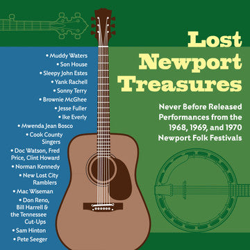 "Lost Newport Treasures: Never Before Released Performances from the 1968, 1969 and 1970 Newport Folk Festivals <font color=""bf0606""><i>DOWNLOAD ONLY</i></font> MCM-4015-2"
