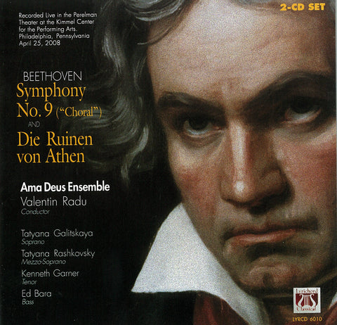 "LYR-6010 Beethoven: Symphony No. 9 (""Choral"") in D Minor Opus 125 and Die Ruinen von Athen Opus 113 CD"