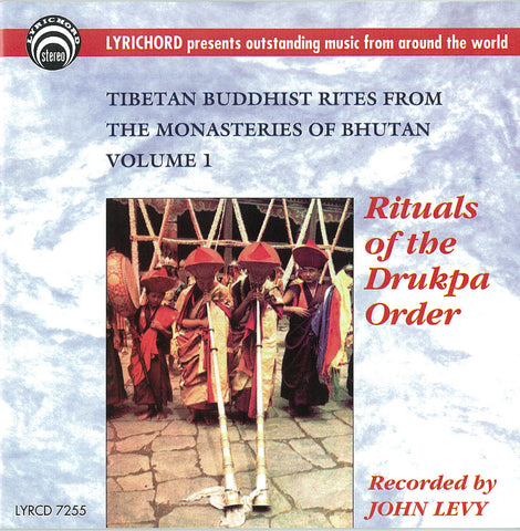 "Tibetan Buddhist Rites from the Monasteries of Bhutan, Volume I  <font color=""bf0606""><i>DOWNLOAD ONLY</i></font> LYR-7255"