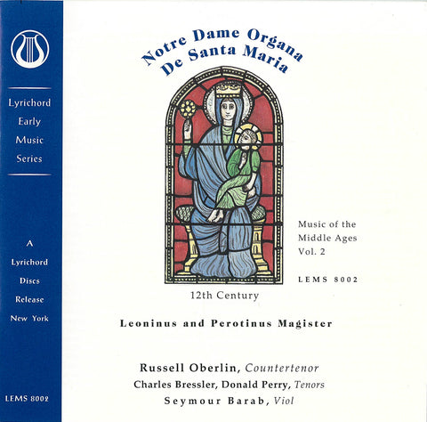 "Music of the Middle Ages, Vol. 2: Notre Dame Organa Leoninus and Perotinus Magister (12th Century) - <font color=""bf0606""><i>DOWNLOAD ONLY</i></font> LEMS-8002"