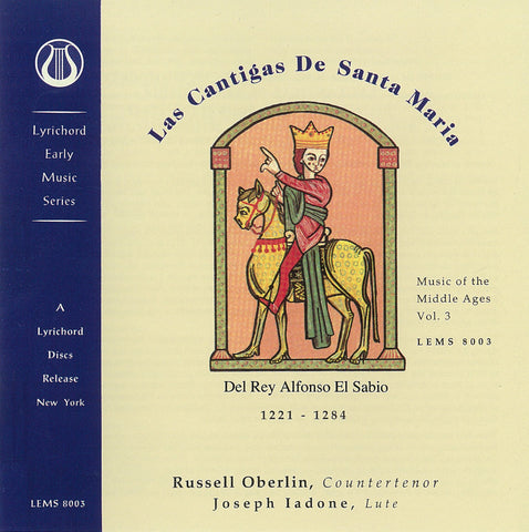 "Music of the Middle Ages, Vol. 3: Las Cantigas De Santa Maria - Del Rey Alfonso El Sabio <font color=""bf0606""><i>DOWNLOAD ONLY</i></font> LEMS-8003"
