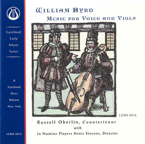 "William Byrd: Music for Voice and Viols - In Nomine Players with Russell Oberlin <font color=""bf0606""><i>DOWNLOAD ONLY</i></font> LEMS-8014"