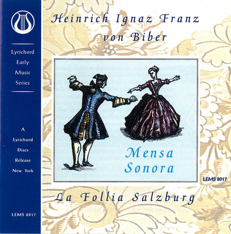 "Mensa Sonora by Heinrich Biber - La Follia Salzburg <font color=""bf0606""><i>DOWNLOAD ONLY</i></font> LEMS-8017"