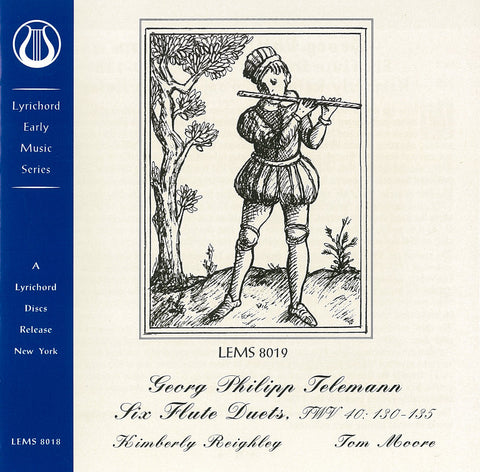 LEMS-8019 Telemann Flute Duets - Tom Moore and Kimberly Reighly CD