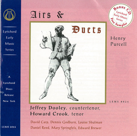"Henry Purcell: Airs and Duets - Jeffrey Dooley, countertenor and Howard Crook, tenor <font color=""bf0606""><i>DOWNLOAD ONLY</i></font> LEMS-8024"