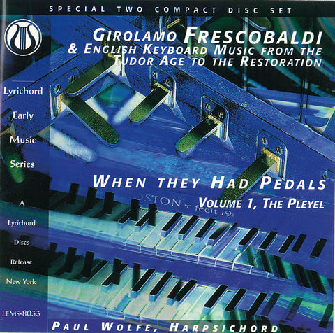 Girolamo Frescobaldi & Eng. Keyboard Music 2 CD set LEMS-8033