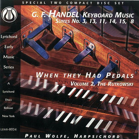 George Frideric Handel: Keyboard Suites 2 CD set LEMS-8034