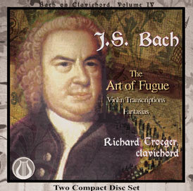 "J.S. Bach: The Art of Fugue BWV 1080 - Richard Troeger, clavichord <font color=""bf0606""><i>DOWNLOAD ONLY</i></font> LEMS-8048"