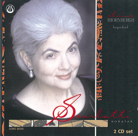 "Domenico Scarlatti:  Sonatas - Elaine Thornburgh <font color=""bf0606""><i>DOWNLOAD ONLY</i></font> LEMS-8049"