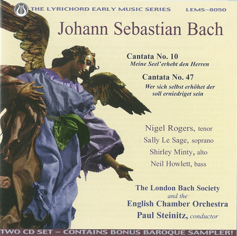 "J.S. Bach: Cantata No. 10, Cantata No. 47 <font color=""bf0606""><i>DOWNLOAD ONLY</i></font> LEMS-8050"