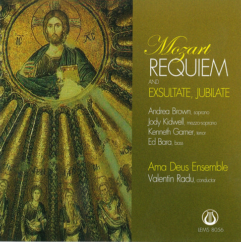 "W.A. Mozart Requiem and Exsultate, Jubilate - Ama Deus Ensemble <font color=""bf0606""><i>DOWNLOAD ONLY</i></font> LEMS-8056"