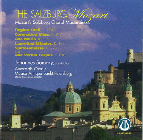 "The Salzburg Mozart - Mozart's Salzburg Choral Masterpieces <font color=""bf0606""><i>DOWNLOAD ONLY</i></font> LEMS-8059"