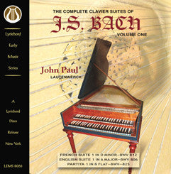 "J.S. Bach: The Complete Clavier Suites, Vol. 1 <font color=""bf0606""><i>DOWNLOAD ONLY</i></font> LEMS-8066"