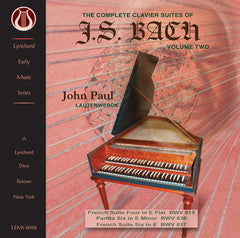 "J.S. Bach: The Complete Clavier Suites, Vol. 2 <font color=""bf0606""><i>DOWNLOAD ONLY</i></font> LEMS-8068"