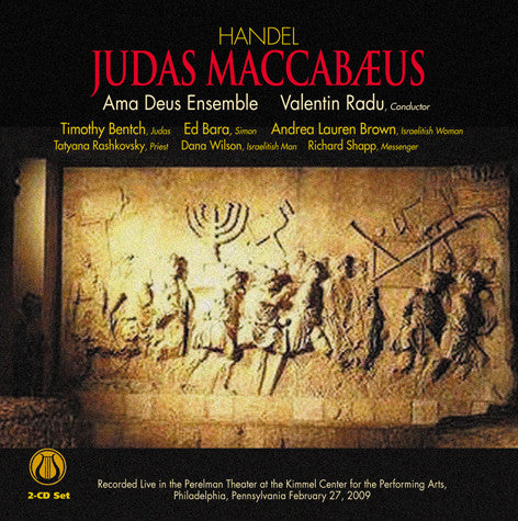 "George Frideric Handel: Judas Maccabæus - English Oratorio in Three Acts <font color=""bf0606""><i>DOWNLOAD ONLY</i></font> LEMS-8070"