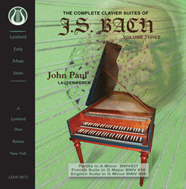 "J.S. Bach: The Complete Clavier Suites, Vol. 3 <font color=""bf0606""><i>DOWNLOAD ONLY</i></font> LEMS-8073"