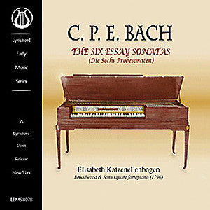 "CPE Bach: The Six Essay Sonatas (Die Sechs Probesonaten) - <font color=""bf0606""><i>DOWNLOAD ONLY</i></font> LEMS-8078"