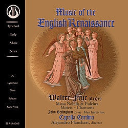 "Music of the English Renaissance - Capella Cordina - <font color=""bf0606""><i>DOWNLOAD ONLY</i></font> LEMS-8083"