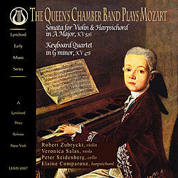 "The Queen's Chamber Band Plays Mozart - <font color=""bf0606""><i>DOWNLOAD ONLY</i></font> LEMS-8087"