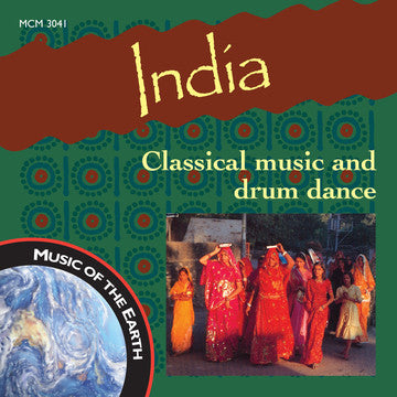 "India: Classical Music and Drum Dance - <font color=""bf0606""><i>DOWNLOAD ONLY</i></font> MCM-3041"