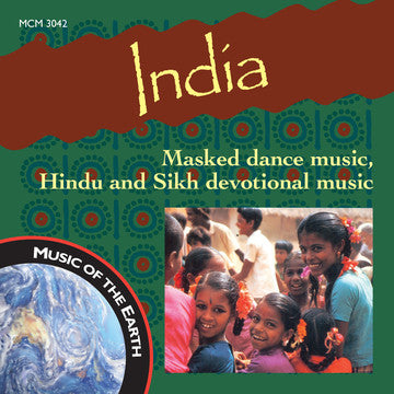 "India: Masked Dance Music, Hindu and Sikh Devotional Music <font color=""bf0606""><i>DOWNLOAD ONLY</i></font> MCM-3042"