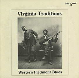 Virginia Traditions: Western Piedmont Blues CD