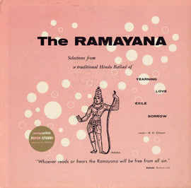 The Ramayana (Hindu Ceremony) (1961) CD