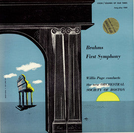 Brahms  First Symphony (1954) CD