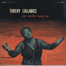 Torchy Lullabies My Mother Sang Me (1956)  Lizzie Miles CD