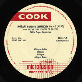 The New Orchestral Society of Boston:  Two Classical Symphonies (Mozart  Symphony No. 40 / Beethoven  Symphony No. 5) (1955) CD