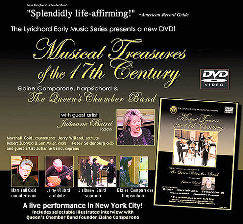 Musical Treasures of the 17th Century - works by Biber, Buxtehude, Frescobaldi, Jaques de Gallot, Alessandro Piccinini DVD