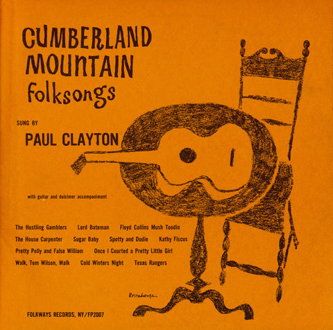 Paul Clayton  Cumberland Mountain Folksongs (1957) CD