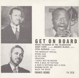 Get on Board  Negro Folk Songs (1951)  Sonny Terry and Brownie McGhee CD