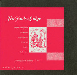 Andrew Rowan Summers  The Faulse Ladye (1954) CD
