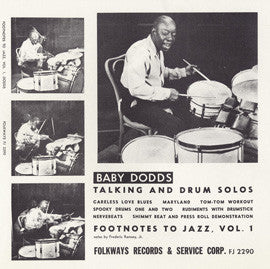 Talking and Drum Solos  Footnotes to Jazz, Vol. 1 (1951)  Baby Dodds CD