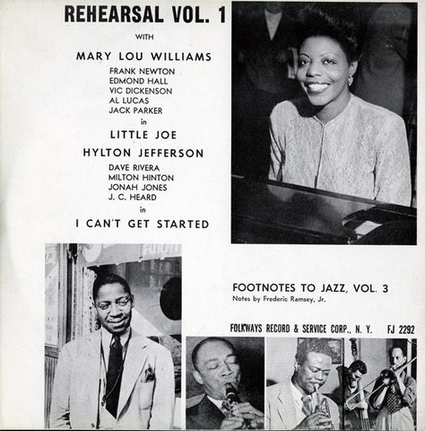Rehearsal, Vol. 1  Footnotes to Jazz, Vol. 3 (1950)  CD