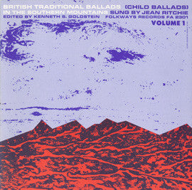 Jean Ritchie  British Traditional Ballads of the Southern Mountains, Vol. 1  Child Ballads (1960) CD